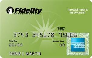 A Fidelity Investments' American Express card